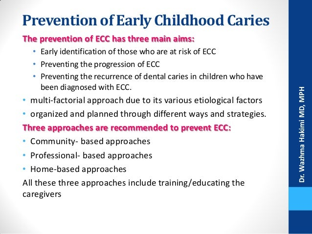 Early childhood caries (ECC): aetiology, clinical considerations and consequences and management