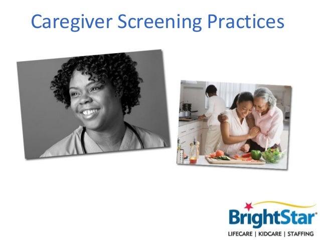 Caregiver Screening Practices