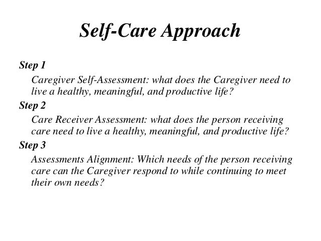 Caregiver Self-Care 3 3 13