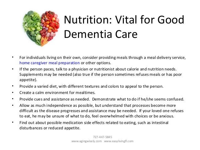 • For individuals living on their own, consider providing meals through a meal delivery service, home caregiver meal prepa...