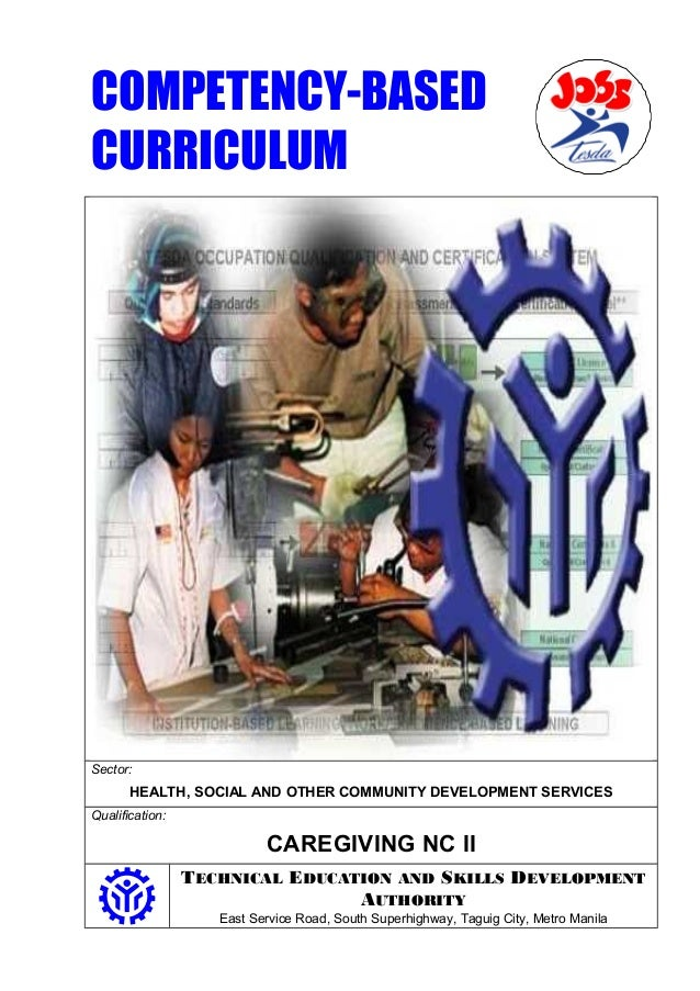COMPETENCY-BASED  CURRICULUM  Sector:  HEALTH, SOCIAL AND OTHER COMMUNITY DEVELOPMENT SERVICES  Qualification:  CAREGIVING...