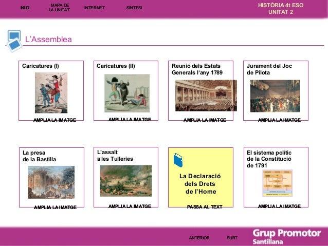 INICI  MAPA DE LA UNITA T  INTE RNE T  HISTÒRIA 4t ESO UNITAT 2  SÍNTESI  L'Assemblea Caricatures (I)  AMPLIA LA IMATGE  L...