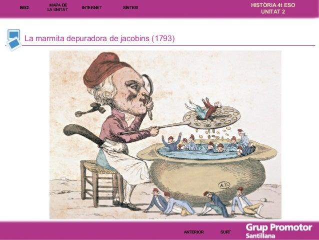 INICI  MAPA DE LA UNITA T  INTE RNE T  HISTÒRIA 4t ESO UNITAT 2  SÍNTESI  La marmita depuradora de jacobins (1793)  ANTERI...