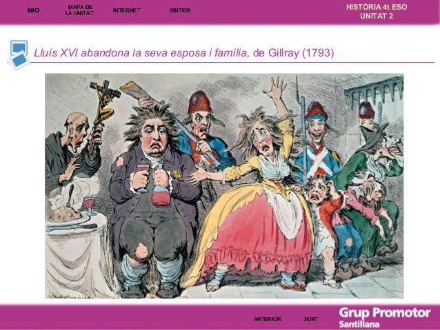 INICI  MAPA DE LA UNITA T  INTE RNE T  HISTÒRIA 4t ESO UNITAT 2  SÍNTESI  Lluís XVI abandona la seva esposa i família, de ...