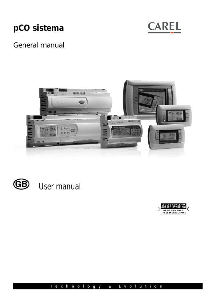 pCO sistemaGeneral manual      User manual                    LEGGI E CONSERVA                    QUESTE ISTRUZIONI       ...