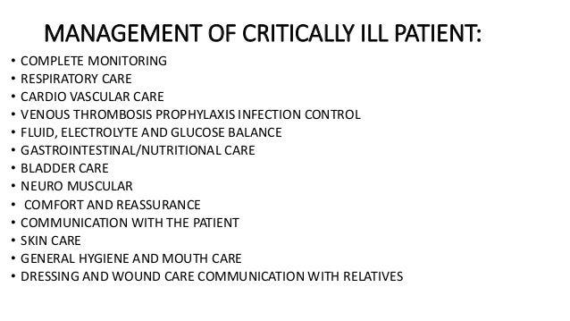 6. Unconscious patient care.