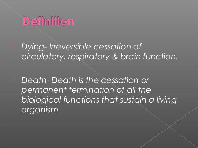 Care Of Dying And Death