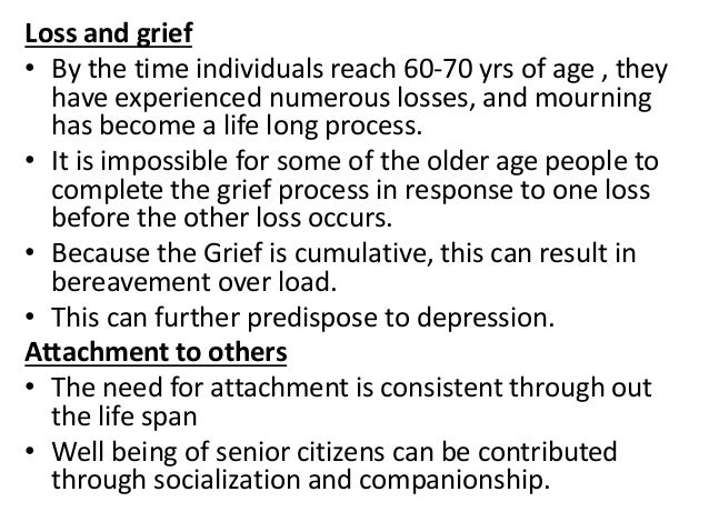 Mental health problems among older adults