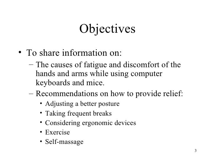Care Of Hands And Arms For Computer Users Slide 3