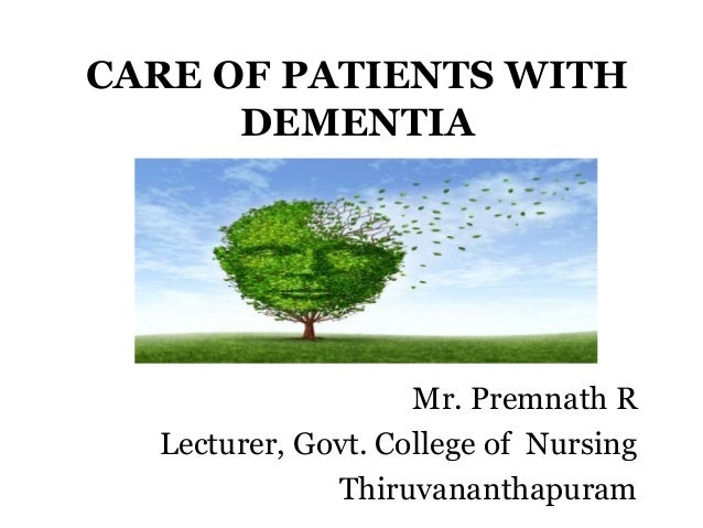 caring for patients with dementia essay