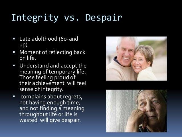 erikson point 8 integrity versus despair essays