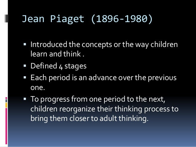 comparison of the theories of jean piaget and erik erikson Erik erikson's eight-stage theory of human development is one of the best-known theories in psychology while the theory builds on freud's stages of psychosexual development, erikson chose to focus on how social relationships impact personality development.