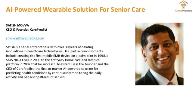 Artificial intelligence-powered wearable solutions for senior care: A conversation with CarePredict Slide 2