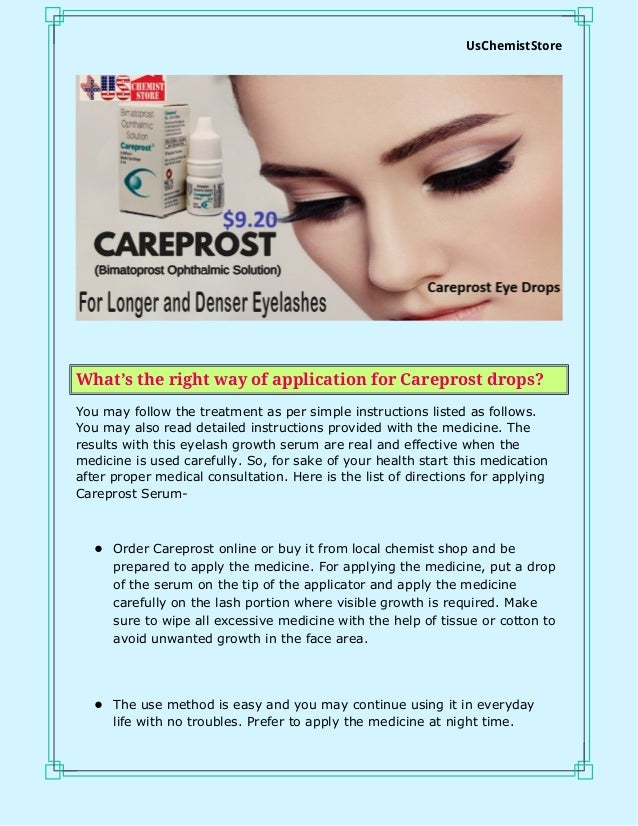 Careprost Eye Drops For Amazing Growth Results In Eyelash Growth