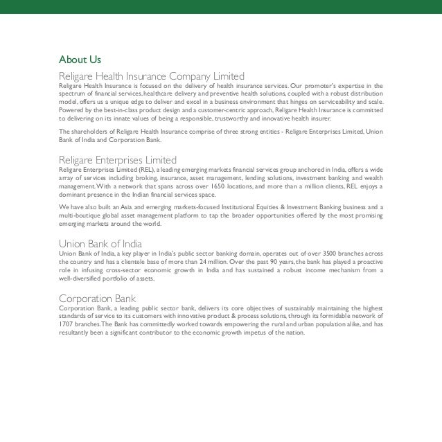 Religare Health Insurance Plan - Care