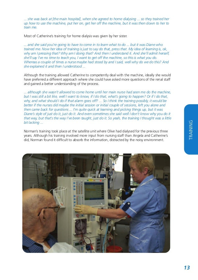 Home Dialysis: Who Cares for the Carer?
