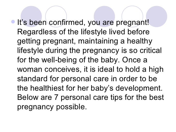 Care tips during pregnancy