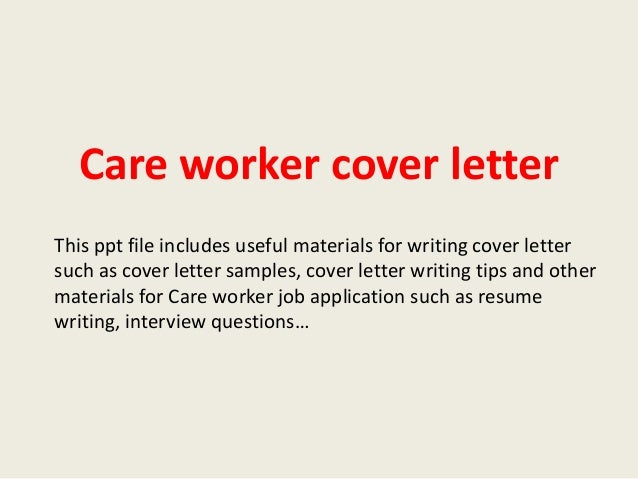 care worker cover letter