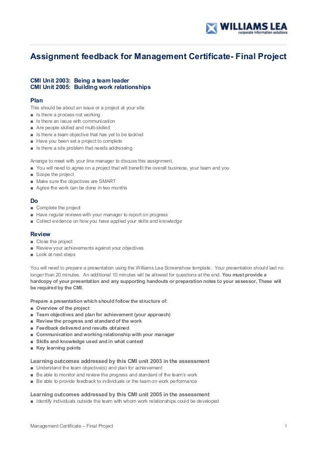Carey Blandford Feedback Form Assignment 4