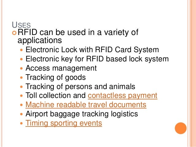 Radio frequency identification - Advantages disadvantages electronic locks ...