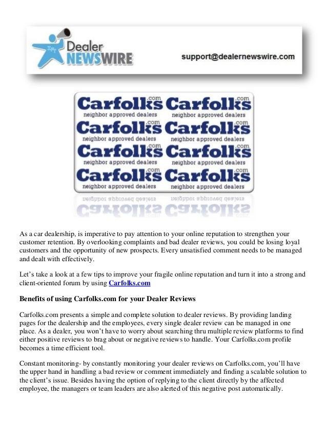 Car Dealer Reviews >> Automotive News Positive Dealer Reviews