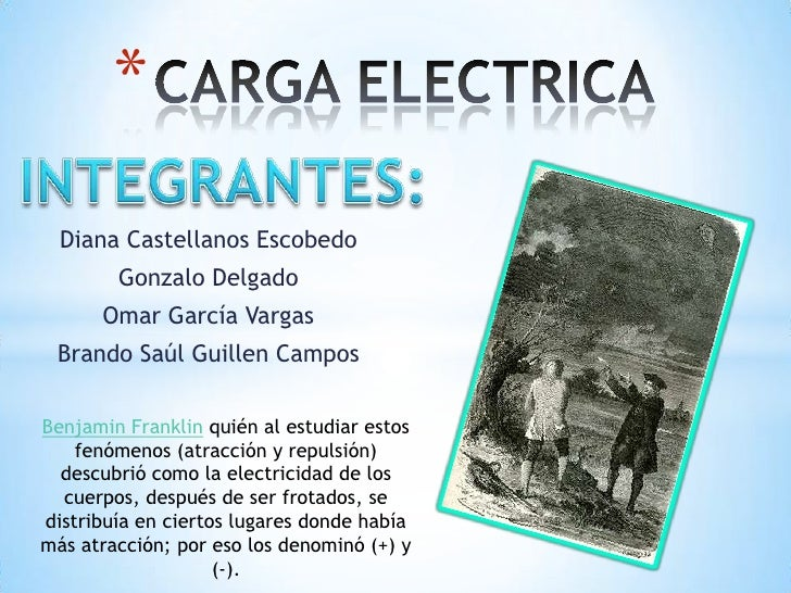 CARGA ELECTRICA<br />INTEGRANTES:<br />Diana Castellanos Escobedo <br />Gonzalo Delgado <br />Omar García Vargas <br />Bra...