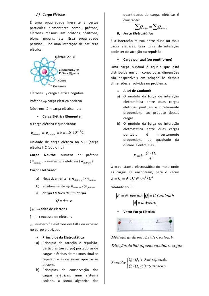 Carga Elétrica<br />É uma propriedade inerente a certas partículas elementares como: prótons, elétrons, mésons, anti-próto...