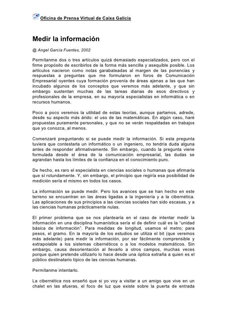 Medir la informaci n for Oficina virtual de empleo galicia