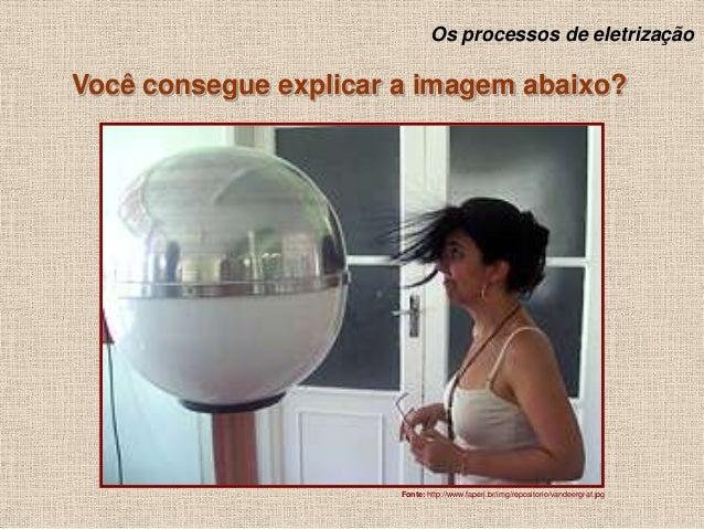 Os processos de eletrização  Você consegue explicar a imagem abaixo?  Fonte: http://www.faperj.br/img/repositorio/vandeerg...