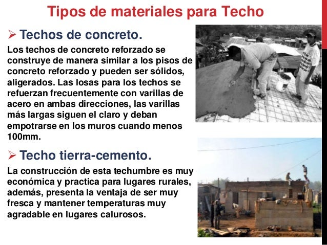 tipos de materiales para techo