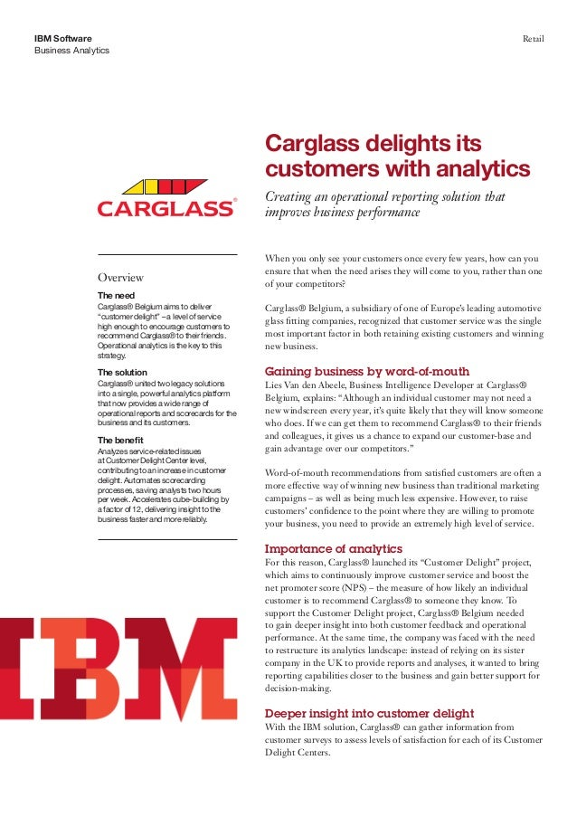 Carglass delights its customers with analytics