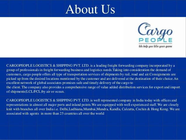 Cargo People Shipping & Logistics Pvt Ltd - International