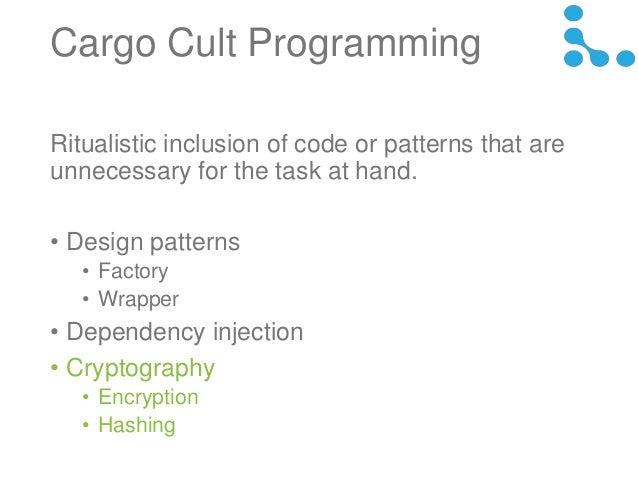 Cargo Cult Security 20140118
