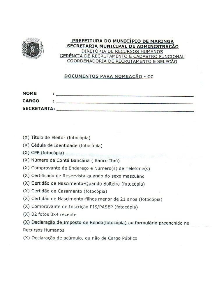 CCs da prefeitura