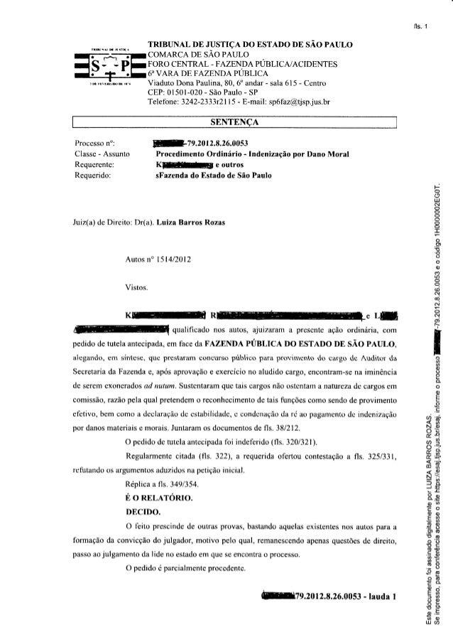 fls. í                     TRIBUNAL DE JUSTIÇA DO ESTADO DE SÃO PAULO                     COMARCA DE,SÃO PAULO            ...