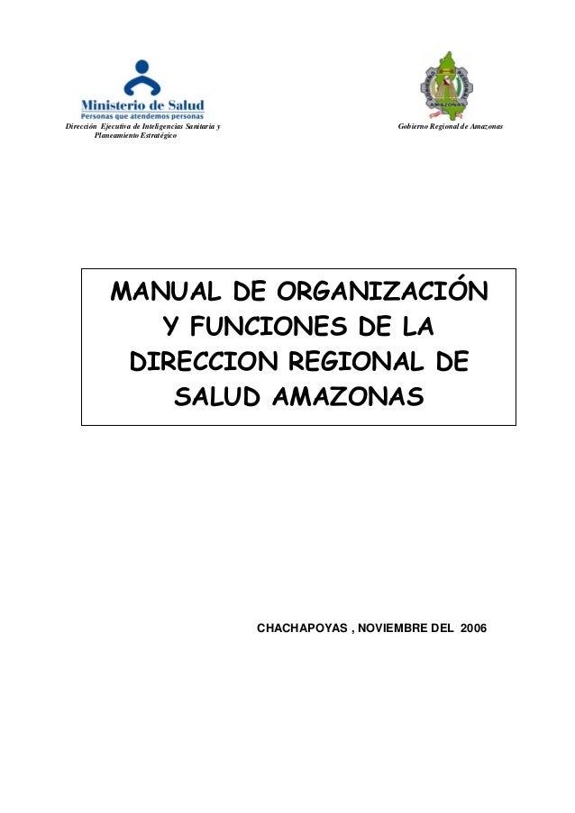 Dirección Ejecutiva de Inteligencias Sanitaria y Gobierno Regional de Amazonas Planeamiento Estratégico CHACHAPOYAS , NOVI...