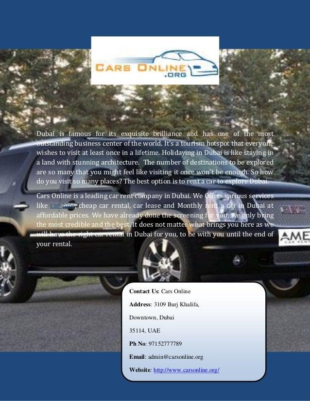 Luxury car hire in dubai