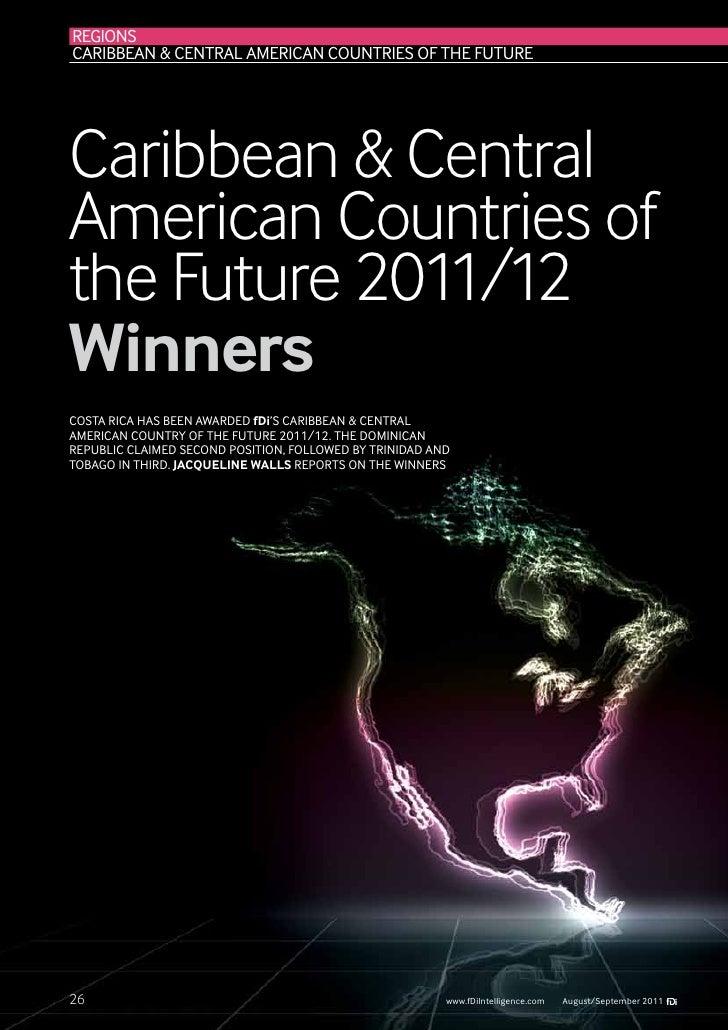 REGIONSCaribbean & Central American Countries of the FutureCaribbean & CentralAmerican Countries ofthe Future 2011/12Winne...