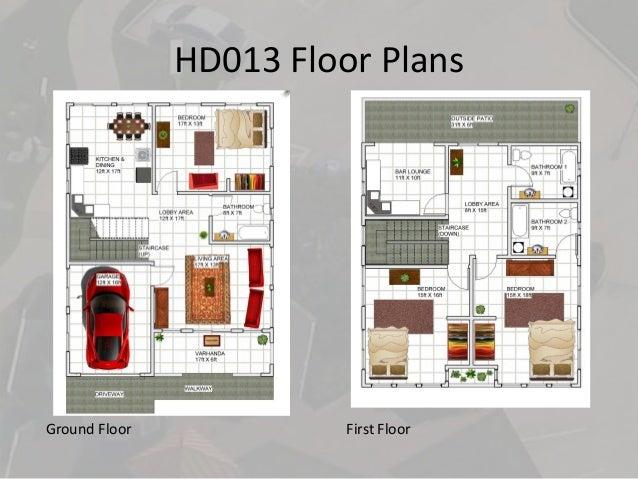 HD013 Floor Plans Ground Floor First Floor ...