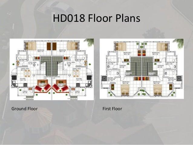 HD018 Floor Plans Ground Floor First Floor ...