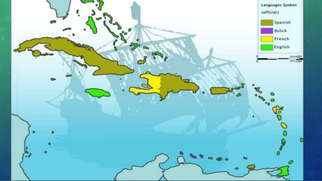 Geographic presentation of the Caribbean islands