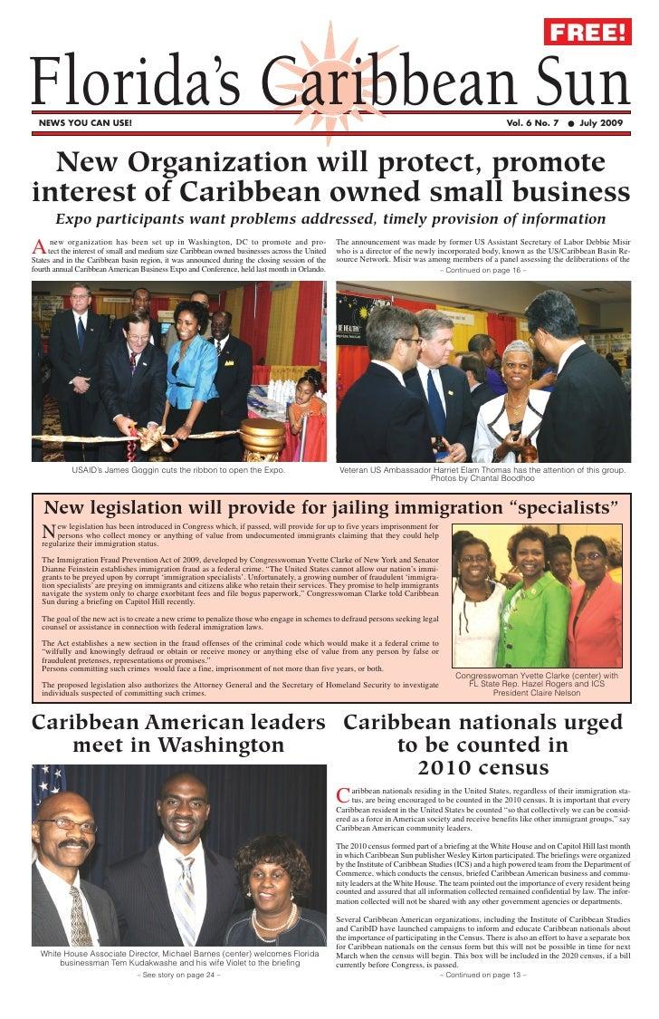 FREE!  Florida's Caribbean Sun   NEWS YOU CAN USE!                                                                        ...