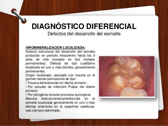 DIAGNÓSTICO DIFERENCIAL Lesiones no cariosas EROSIÓN : Lesiones crónicas, diferentes a caries dental que causan pérdida ir...