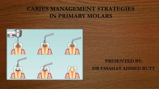CARIES MANAGEMENT STRATEGIES IN PRIMARY MOLARS PRESENTED BY: DR FASAHAT AHMED BUTT