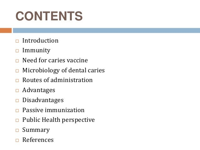 Caries vaccine ppt toneelgroepblik Choice Image