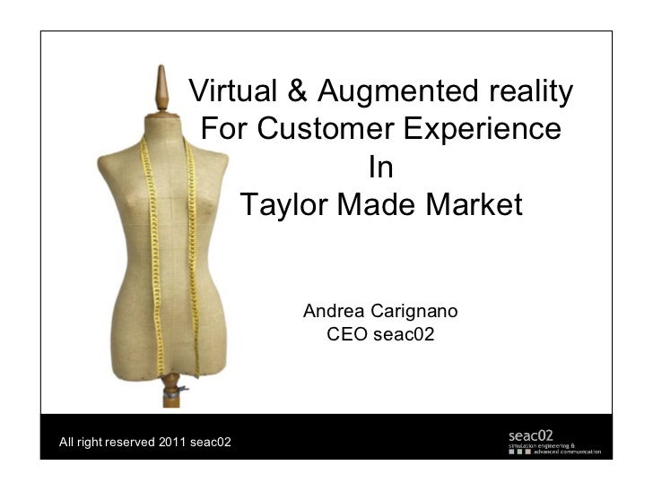 Virtual & Augmented reality                       For Customer Experience                                   In            ...