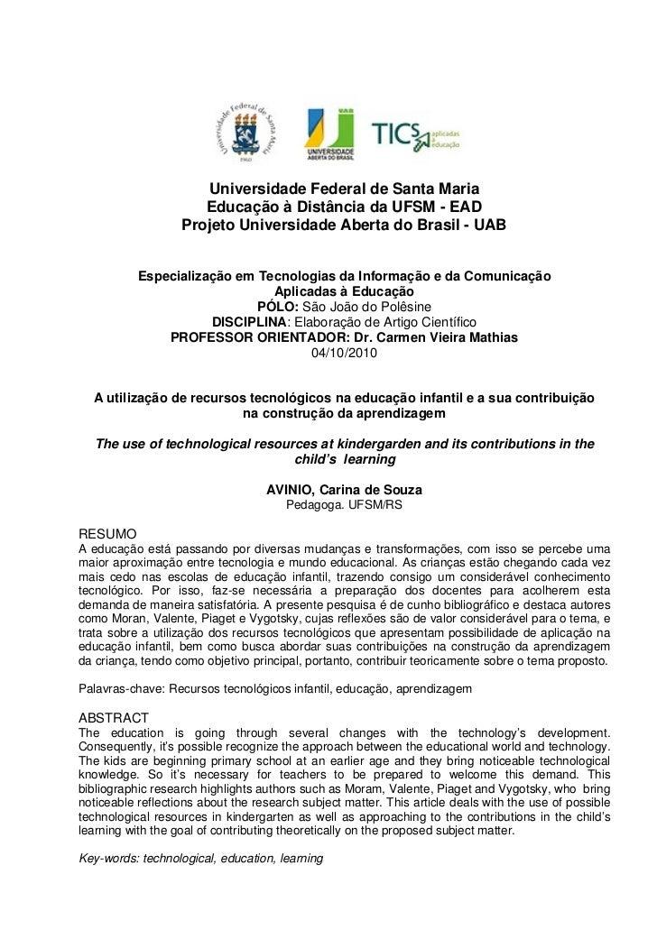 Universidade Federal de Santa Maria - UFSM                      Universidade Federal de Santa Maria                      E...