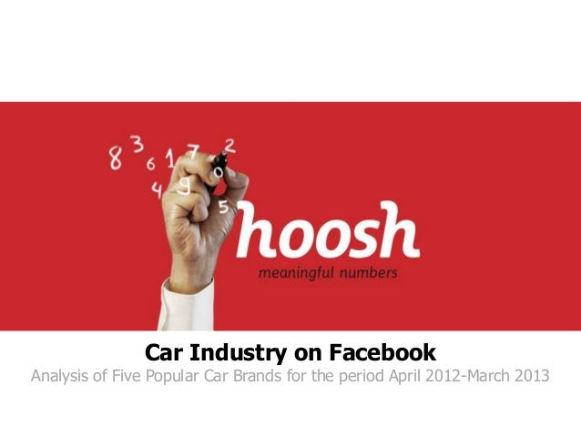 Car Industry on Facebook  Analysis of Five Popular Car Brands for the period April 2012-March 2013
