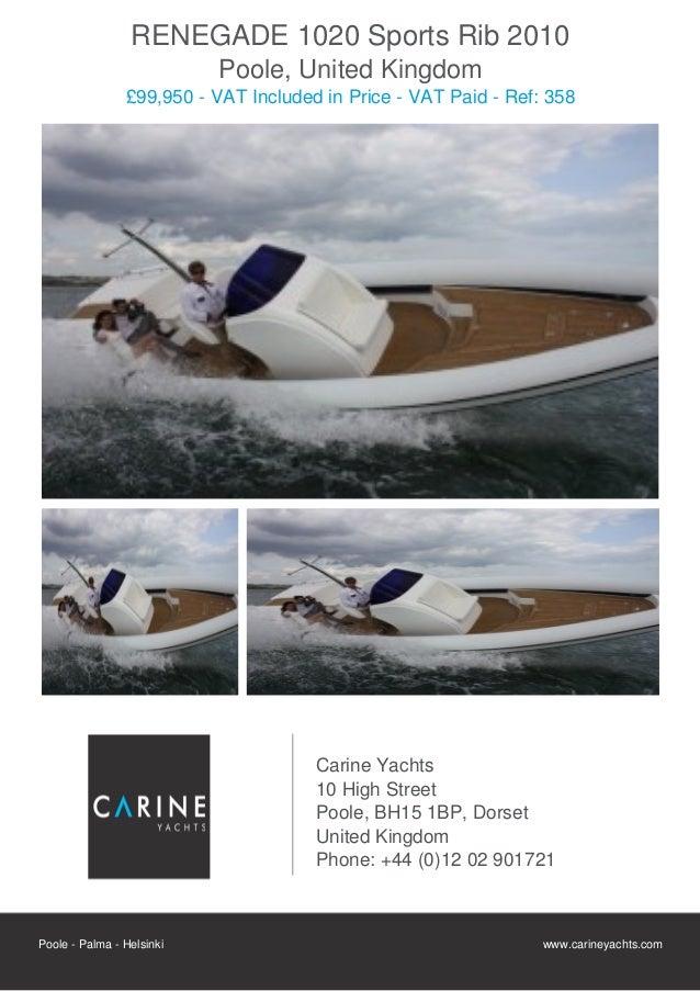 RENEGADE 1020 Sports Rib 2010                           Poole, United Kingdom                £99,950 - VAT Included in Pri...