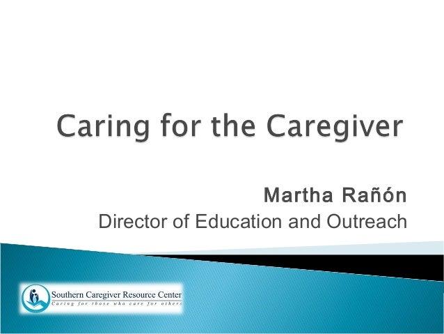 Martha Rañón Director of Education and Outreach